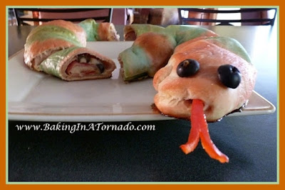 Snake Sandwich | recipe developed by www.BakingInATornado.com | #recipe #Halloween