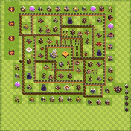 war base town hall level 11 by cesar adriano mallmann base de guerra th 11 - Layout Cv 4 Guerra