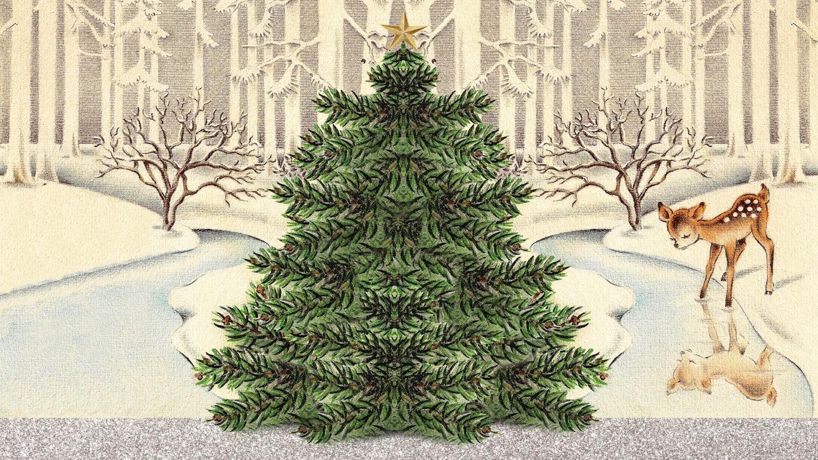 LayeredLiving: Free Vintage Christmas Background