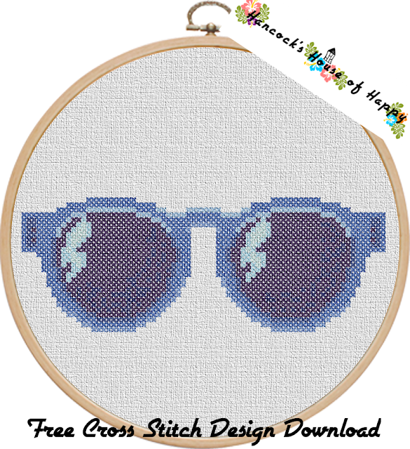 Free Sunglasses Cross Stitch Pattern to Download