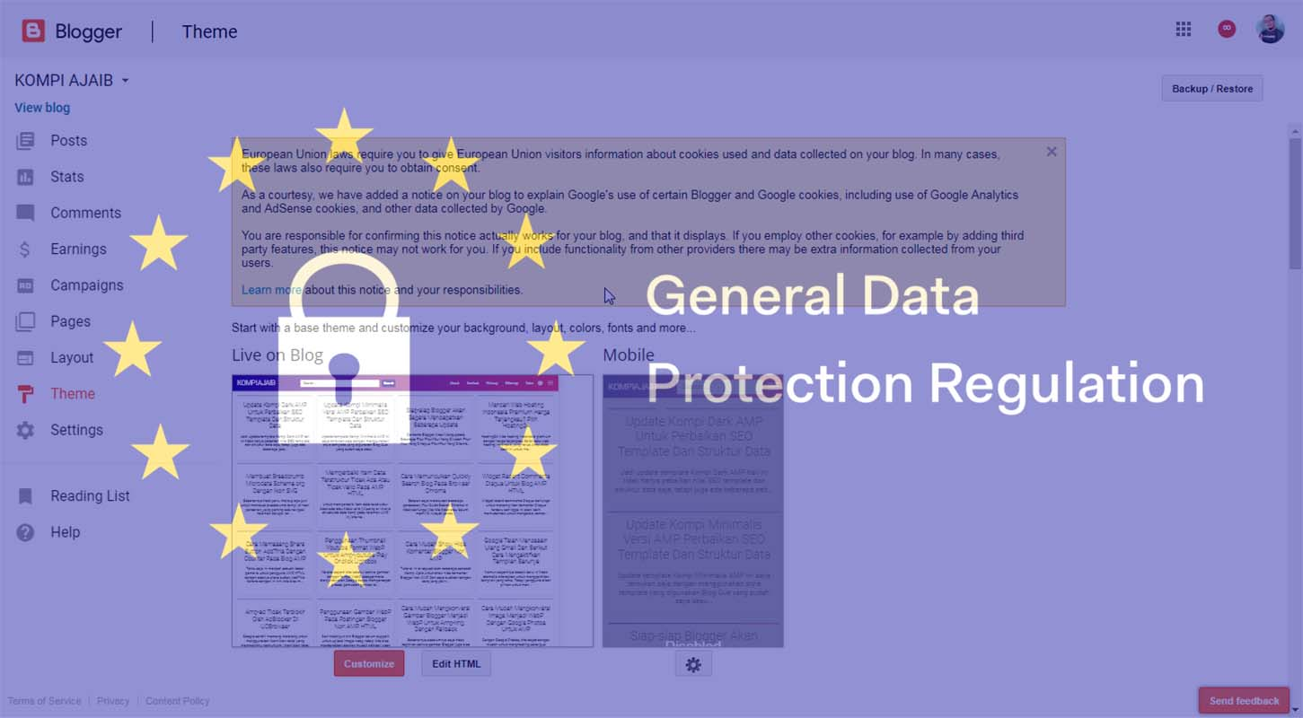 Mengenai General Data Protection Regulation (GDPR) Untuk Publisher Adsense Blogger