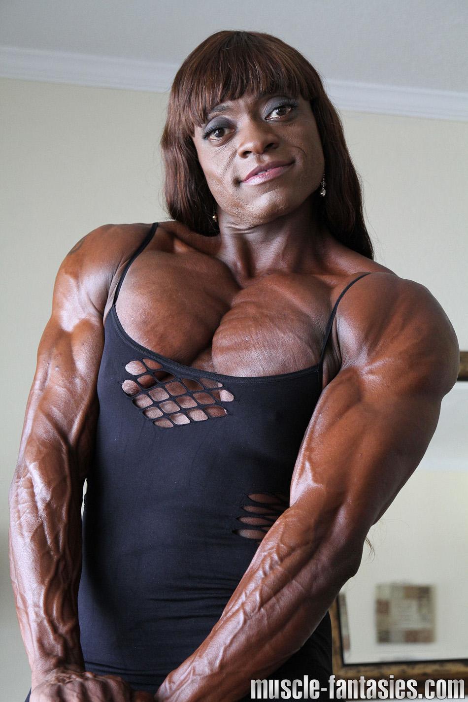 Female Bodybuilder Keli Watkins - Photo by Muscle Fantasies