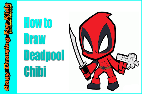 how to draw deadpool chibi