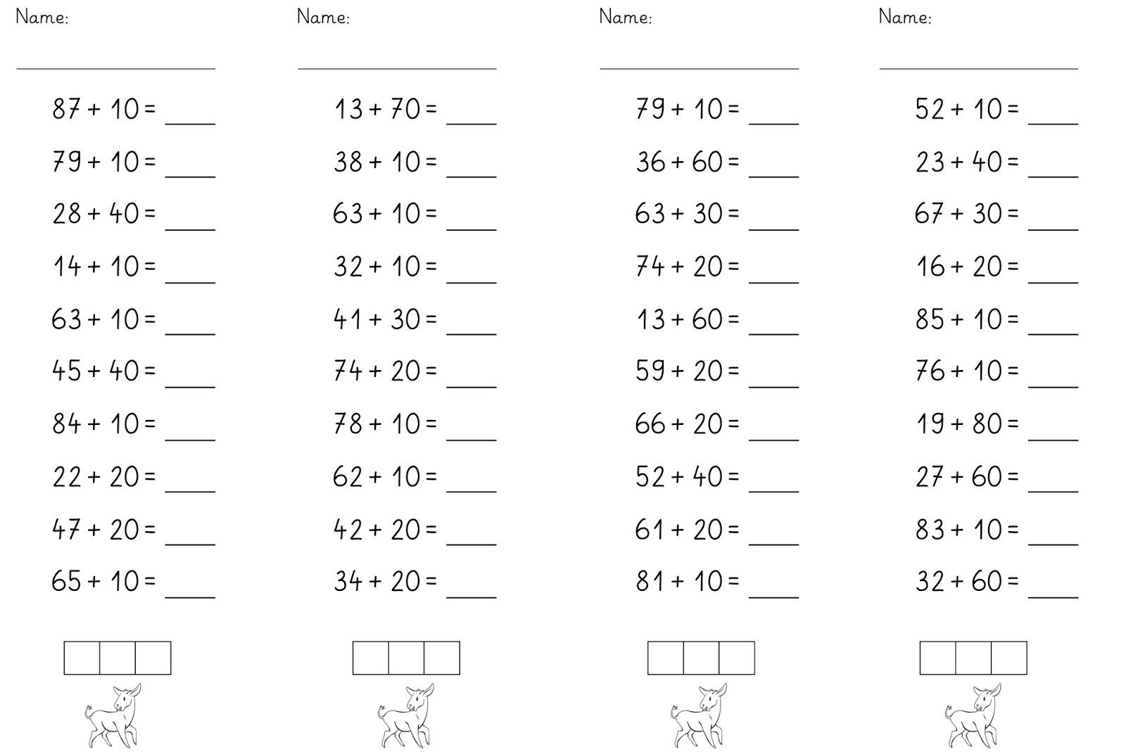 Lernstübchen: Rechnen mit den Zehnerzahlen