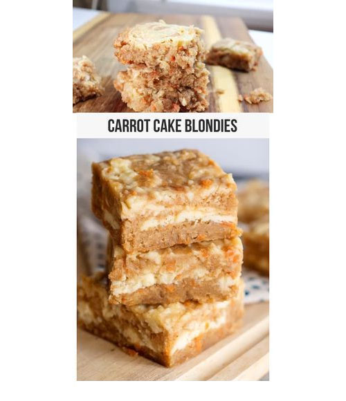 Looking for a sweet treat that is amazing? When you try these Carrot Cake Blondies that are part carrot cake, part cream cheese icing, part blondie, and part cheesecake, you are going to wonder how you lived without them.