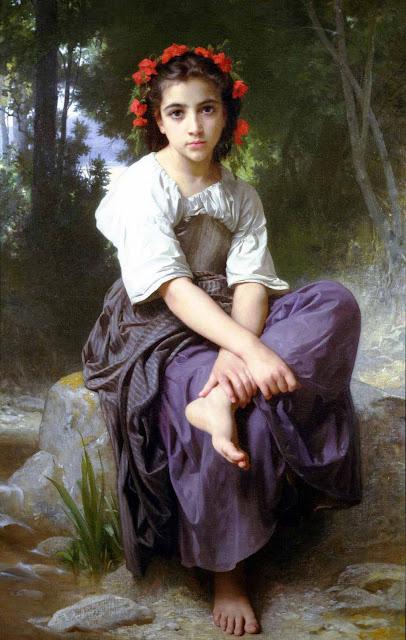 Адольф Вильям Бугро - На берегу ручья (1875)