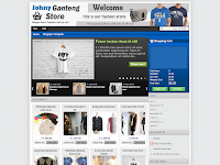 Johny Ganteng With Cart Blogger Template