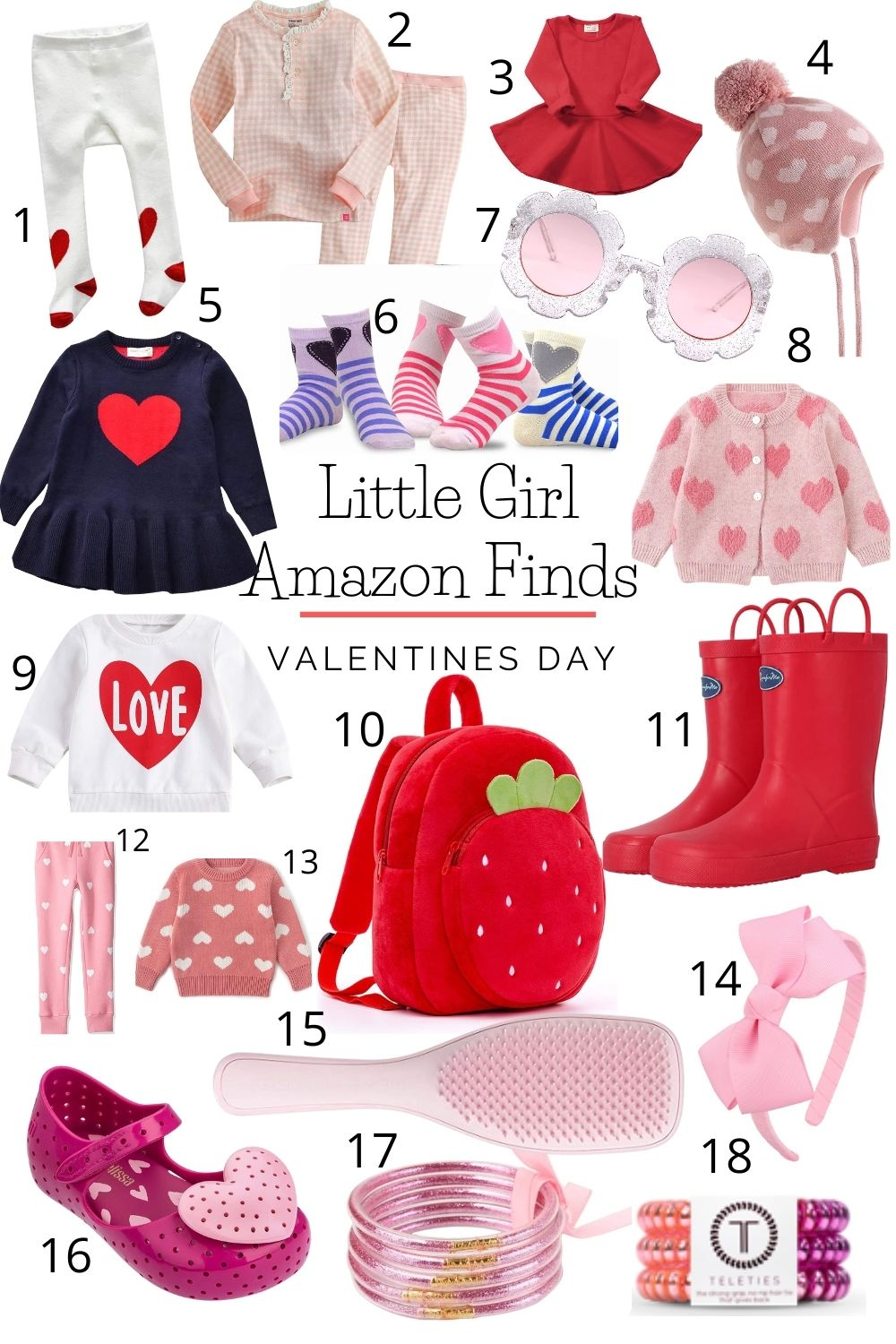 Amazon Valentine's Day Favorites for Little Girls