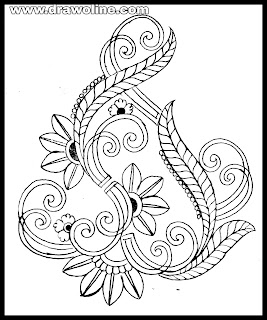 How to draw flower design for embroidery/embroidery flowers designs motifs drawings and sketch/ embroidery free image