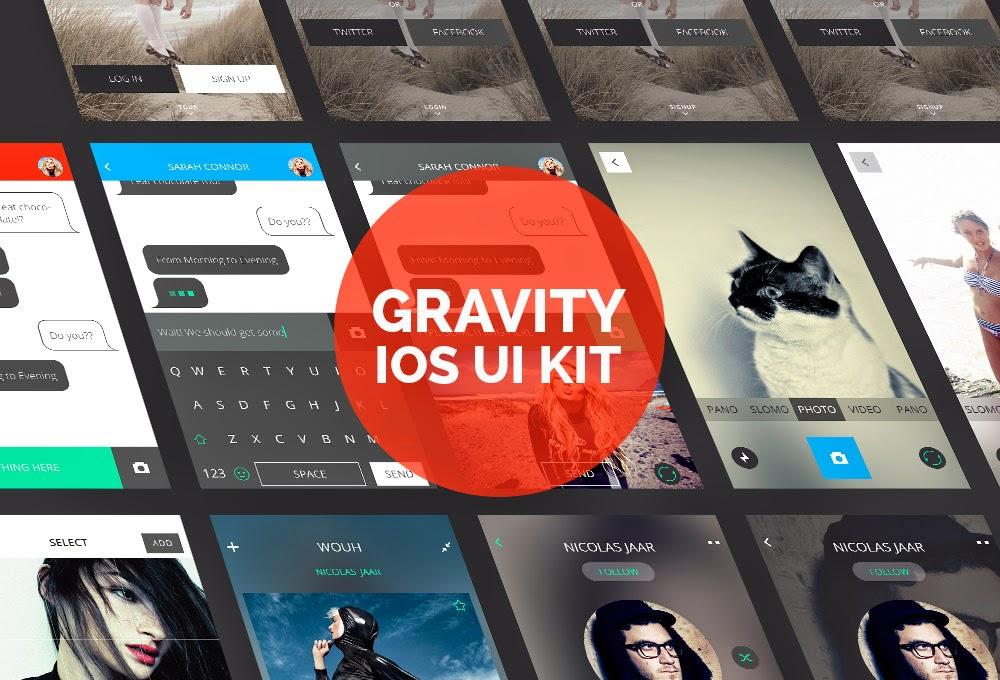Gravity IOS Design UI Kit