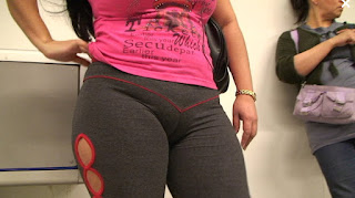 Sexy señora marca cameltoe pants yoga