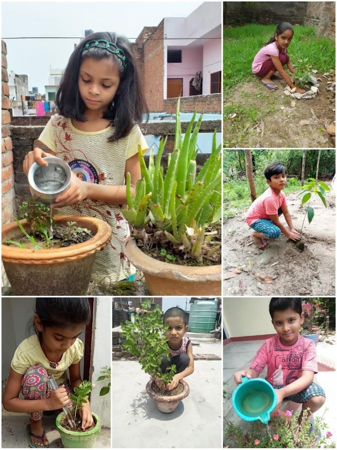 विश्व पर्यावरण दिवस : बाल निकुंज के बच्चों ने दिया ये संदेश