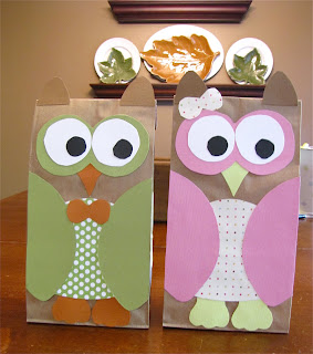 make your own owl goodie bags