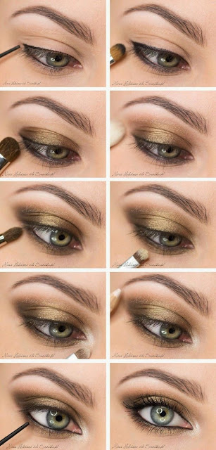 5 Gold Smoky Eye Tutorials for Fall