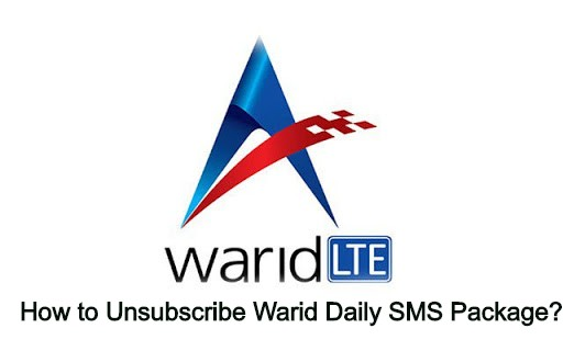How to Unsubscribe Warid Daily SMS Package?