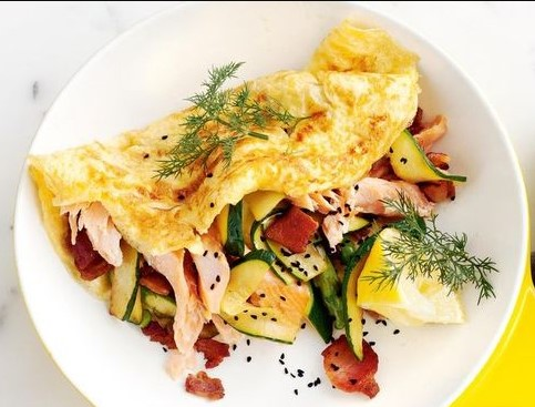 Omelette with ricotta