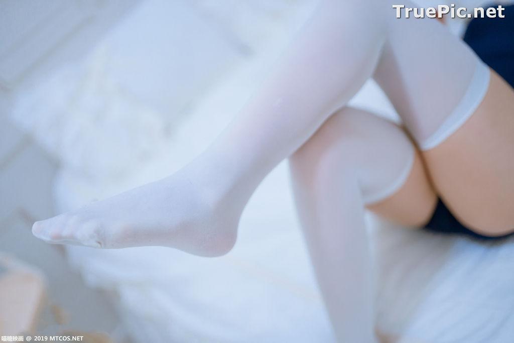 Image [MTCos] 喵糖映画 Vol.040 – Chinese Model 猫君君MaoJun – Navy Blue Monokini - TruePic.net - Picture-6