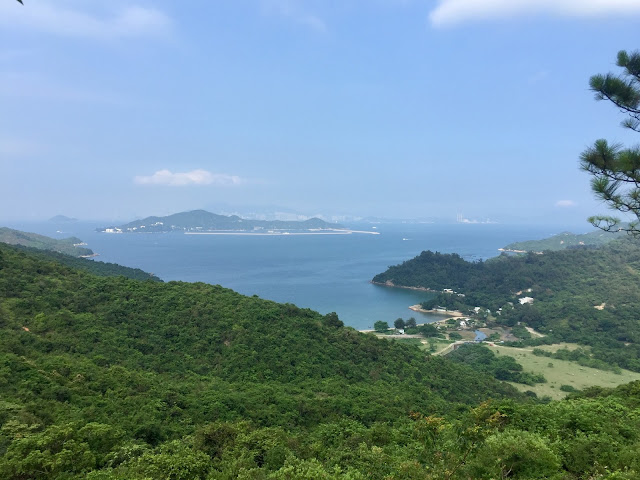 Ocean views on the Lantau Trail from Mui Wo to Pui O, Hong Kong