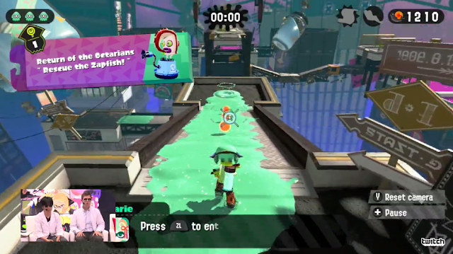 Splatoon 2 single player hero mode level 1 Return of the Octarians Rescue the Zapfish