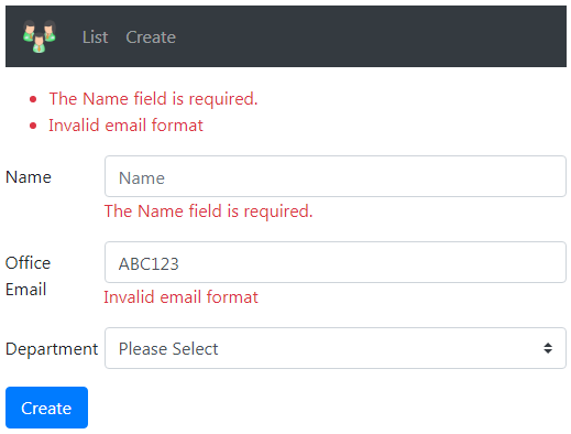 asp.net core email validation