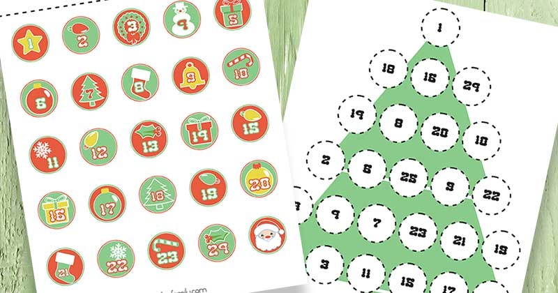 photograph about Advent Calendar Numbers Printable identified as Absolutely free Printable Introduction Calendar for Little ones Sunny Working day Relatives