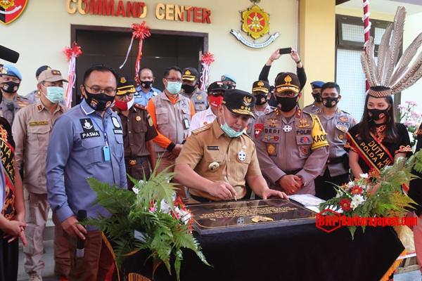 Usai Cek Kesiapan Antisipasi Karhutla, Gubernur dan Kapolda bersama Forkopimda Resmikan Command Center