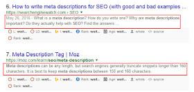 Judul dan deskripsi penelusuran yang muncul di hasil pencarian google