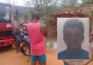 Idoso morre em colisão frontal entre caminhão e motocicleta, na Chapada Diamantina