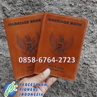 Cetak Buku Nikah baik Cover maupun isinya 085867642723 sampul KUA