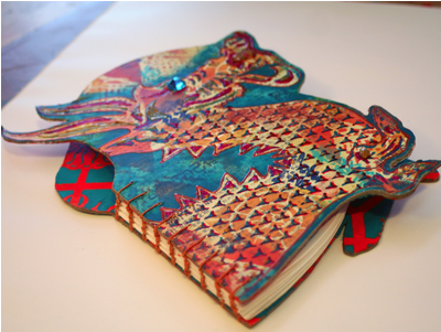 StencilGirl Talk: Stenciled and Shaped Handmade Books