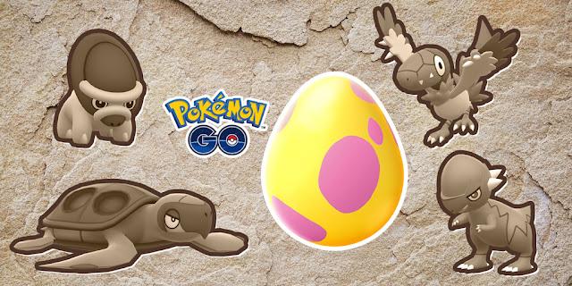 Fóssil Pokémon GO Ovos de 7 km