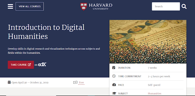 Introduction to Digital Humanities - Online Course by Harvard University