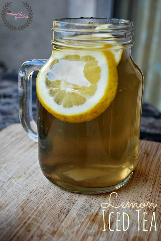 DIY: Lemon Iced Tea