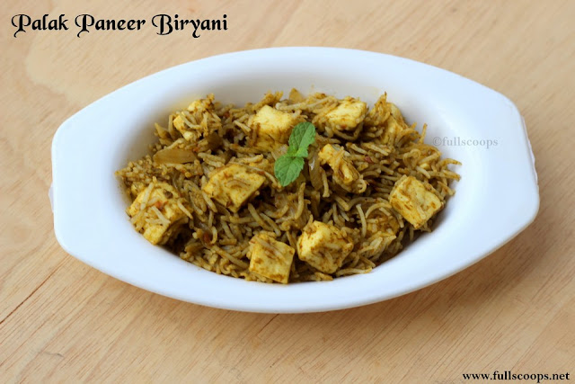 Palak Paneer Biryani