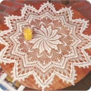 "Centro de Mesa ""Venus"" a Crochet"