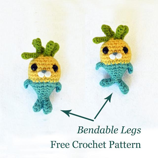 Tunip and the Purple Vegimal Free Crochet Pattern