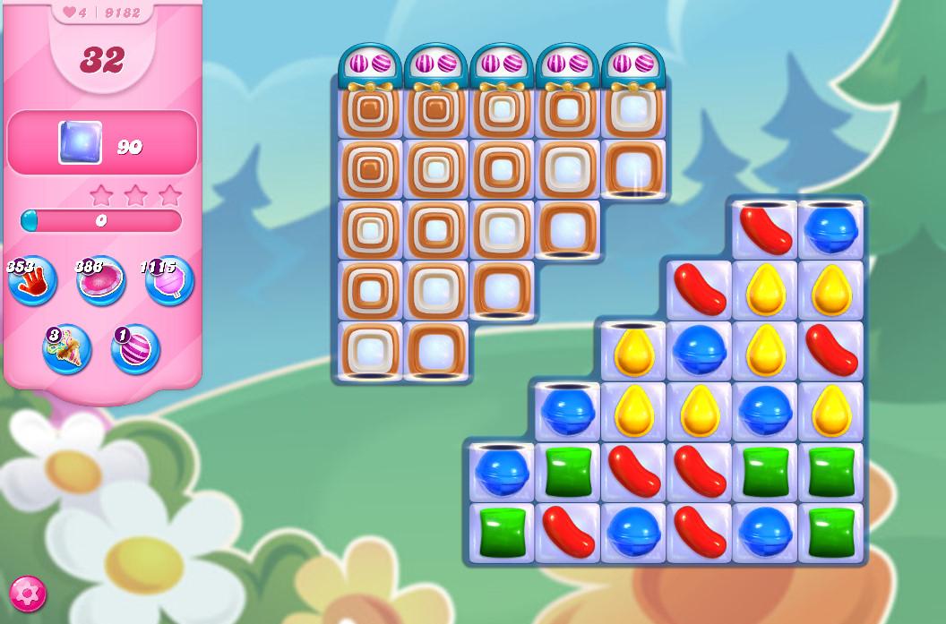 Candy Crush Saga level 9182