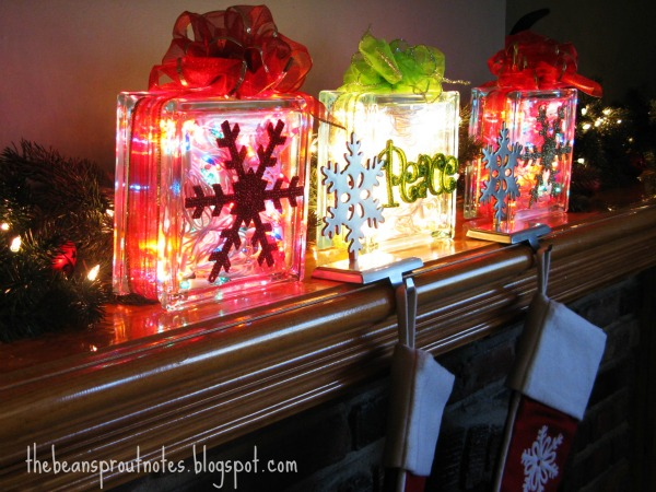 The Bean Sprout Notes Glass Christmas Light Gift Box