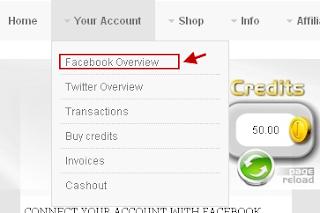 ربط الحساب الفيس بوك بالشركه