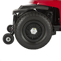 Bobcat X4/X3 anti-tip wheels on Drive Medical mobility scooter
