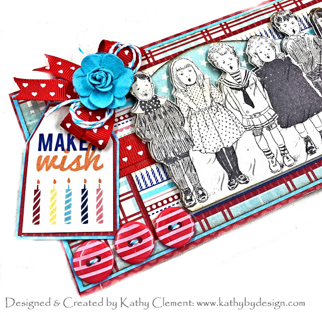 Authentique Hooray Slimline Card by Kathy Clement