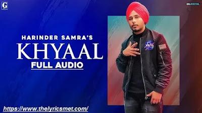 Khyaal Song Lyrics | Harinder Samra | Latest Punjabi Songs 2020 | Geet MP3