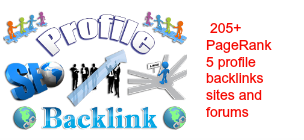 PageRank 5 profile backlinks sites and forums do follow