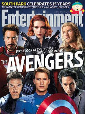 Portada de Entertainment Weekly con Los Vengadores