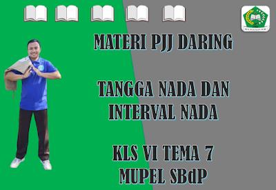 Materi SBdP Kelas VI Tema 7 Subtema 1 - Tangga Nada dan Interval Nada