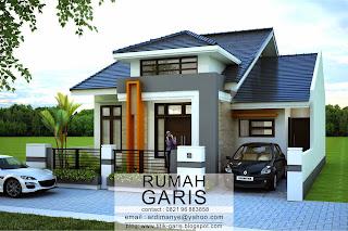desain rumah tinggal 2 lantai di lahan 10x15,6 meter di