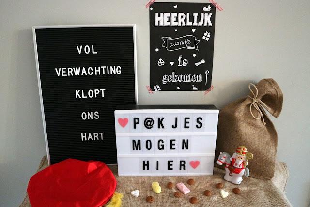 Sinterklaas Quote  Lightbox Letterbord