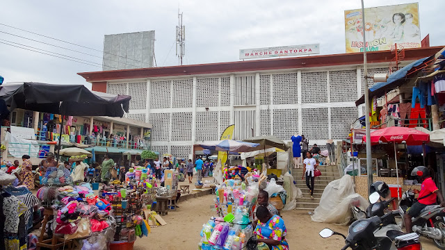 The biggest market in Benin