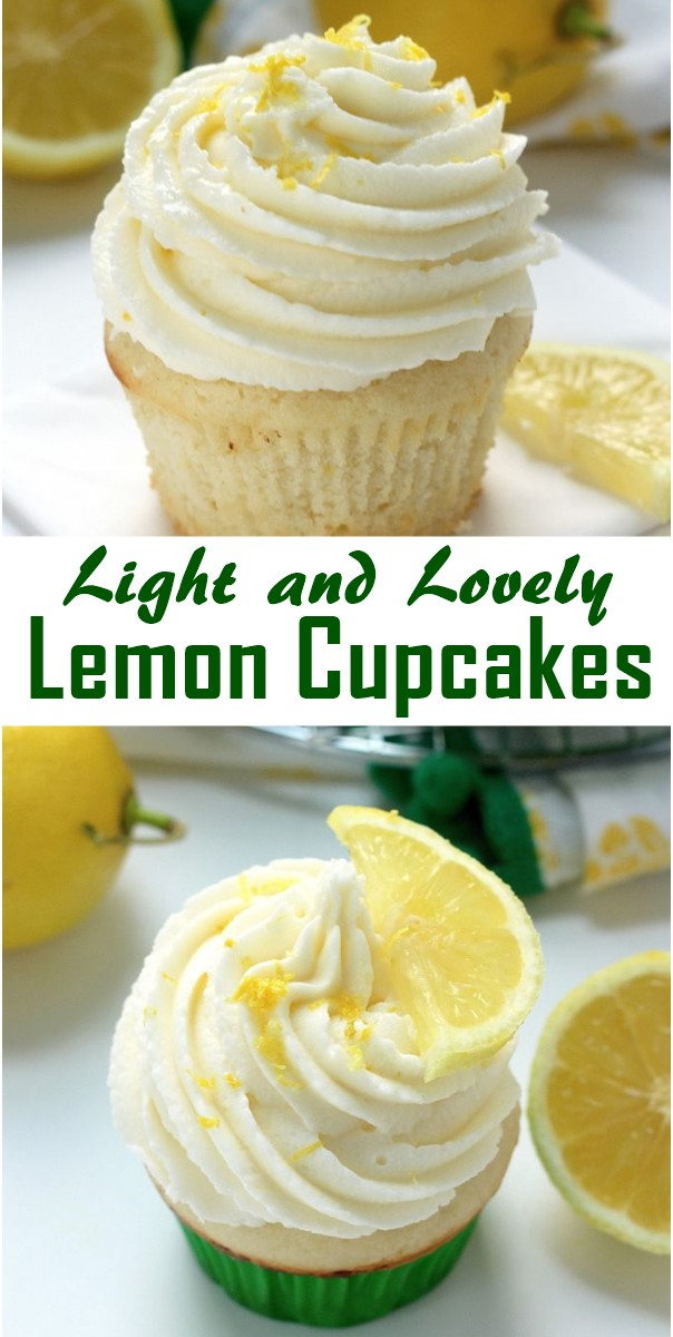 Light and Lovely Lemon Cupcakes #Cupcakesrecipes