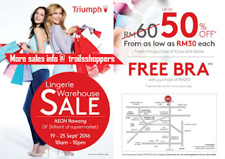 Triumph Lingerie Warehouse Sale AEON